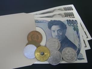 給料袋に入っているお金の素材 [FYI00206251]