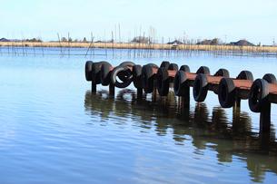 湖の桟橋の写真素材 [FYI00206494]