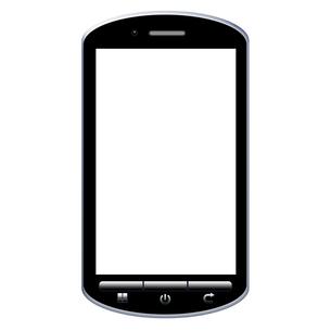スマートフォンのイラストの写真素材 [FYI00206531]