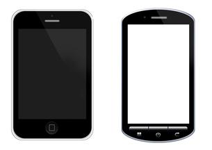 スマートフォンのイラストの写真素材 [FYI00206556]
