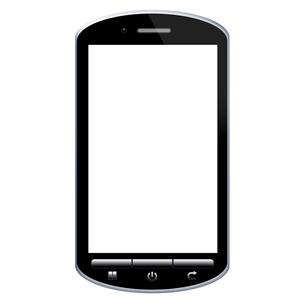 スマートフォンのイラストの写真素材 [FYI00206570]