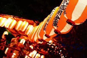 夏祭りのちょうちんの写真素材 [FYI00206752]