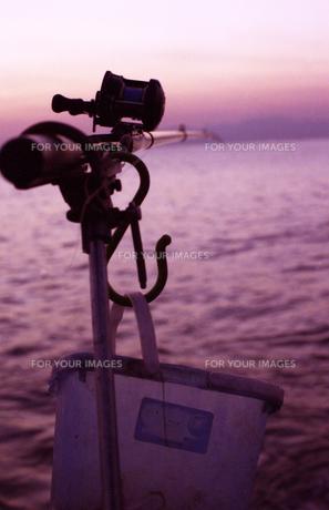 漁師の竿の写真素材 [FYI00206911]