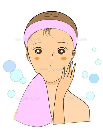 洗顔後の写真素材 [FYI00206972]