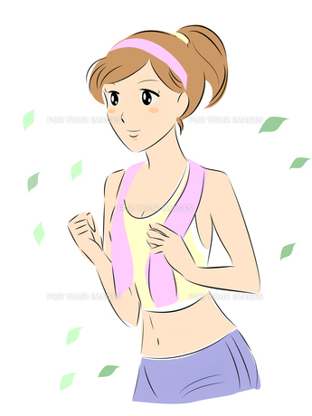 ジョギングする女性の写真素材 [FYI00206984]
