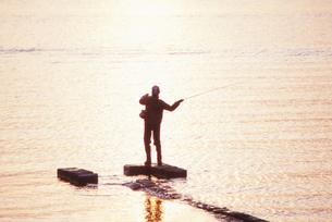 中禅寺湖夕景の写真素材 [FYI00207041]