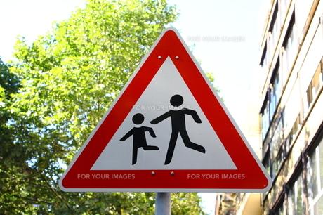 ドイツの標識 横断歩道の写真素材 [FYI00207125]