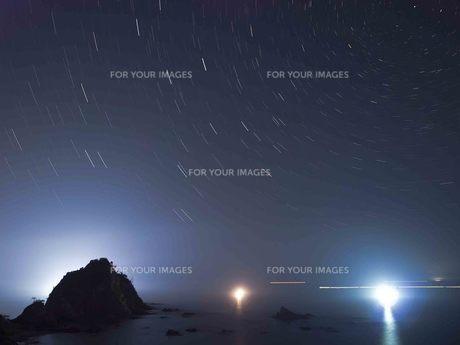 鳥取県岩美郡の浦富海岸の夜景の写真素材 [FYI00207309]