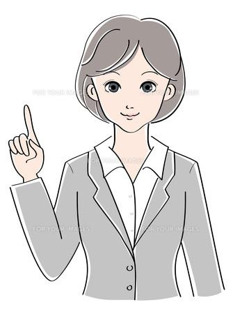 女性 / スーツ / 指差しの素材 [FYI00207524]