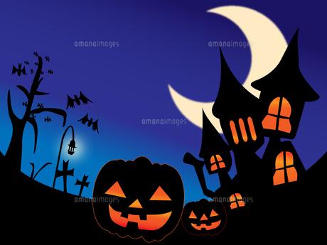 ハロウィンの夜の写真素材 [FYI00207835]