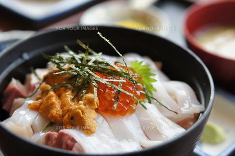 海鮮丼の写真素材 [FYI00207838]
