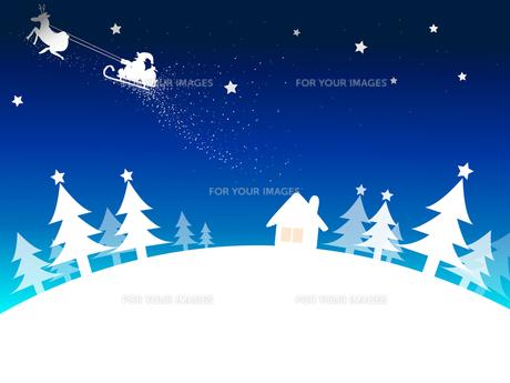 クリスマスの夜の写真素材 [FYI00207856]