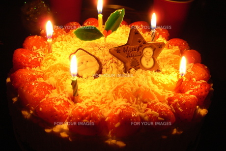 クリスマスケーキの写真素材 [FYI00207910]