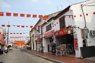 マレーシア マラッカ 中華街の写真素材 [FYI00207983]