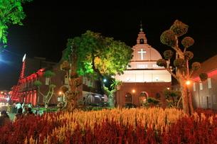 マラッカ 教会の夜景の写真素材 [FYI00207995]