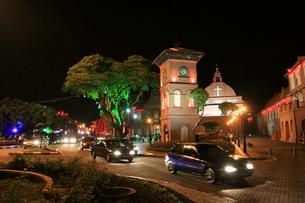 マレーシア オランダ広場の夜景の写真素材 [FYI00207998]