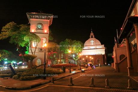 マレーシア マラッカのオランダ広場の写真素材 [FYI00208000]