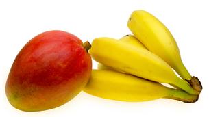 バナナとマンゴーの写真素材 [FYI00209315]