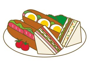 サンドイッチとホットドックの写真素材 [FYI00210445]
