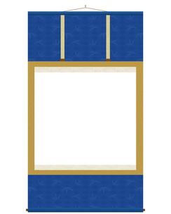 掛け軸 紺色の写真素材 [FYI00210454]