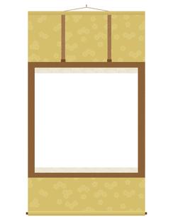 掛け軸 黄金色の写真素材 [FYI00210455]
