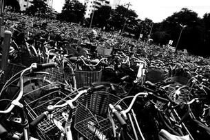 駐輪場の大量の自転車の写真素材 [FYI00210577]