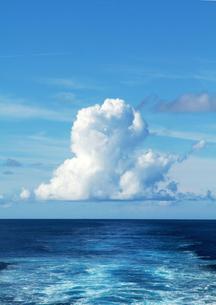 青空と海原 縦の写真素材 [FYI00210642]