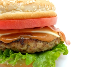 ハンバーガーの写真素材 [FYI00211637]