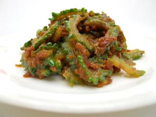 ゴーヤの肉味噌炒めの写真素材 [FYI00211753]