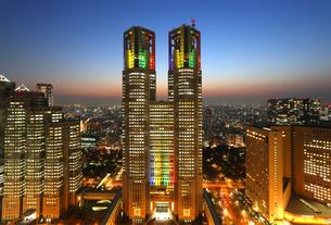 東京都心イメージと都庁の写真素材 [FYI00212245]