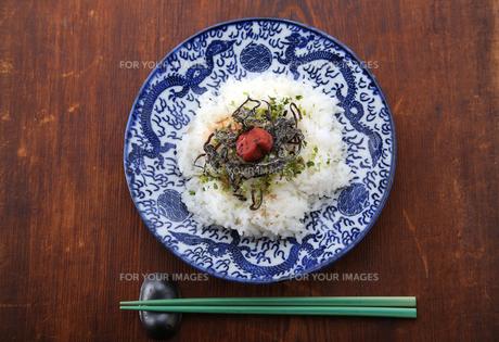 梅干しふりかけご飯 の写真素材 [FYI00212271]