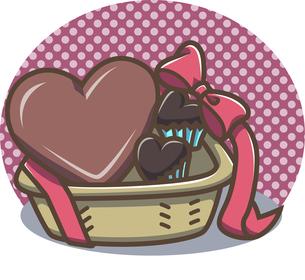 チョコレートバスケットの写真素材 [FYI00212734]