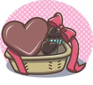 チョコレートバスケットの写真素材 [FYI00212738]