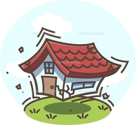 地震!揺れる家の写真素材 [FYI00212769]