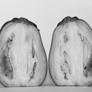 茄子(モノクロ)の写真素材 [FYI00212892]