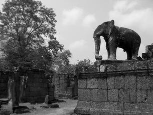東メボンの象の彫像の写真素材 [FYI00212993]