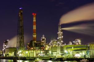 川崎工場夜景の写真素材 [FYI00213176]