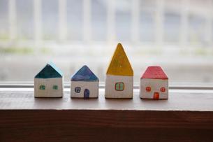 四つの家の写真素材 [FYI00213182]