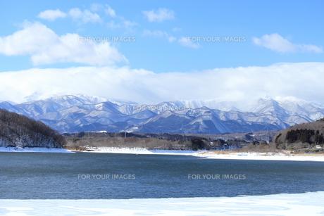 蔵王の山並の写真素材 [FYI00213184]