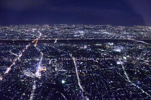 都会の夜景の写真素材 [FYI00213353]