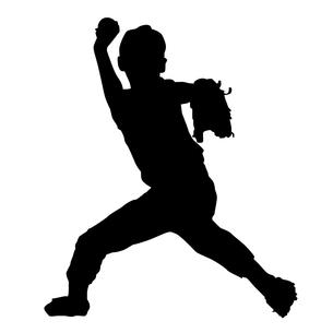 野球少年のシルエットの写真素材 [FYI00213688]