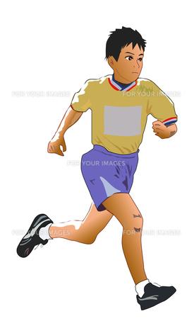 走る少年の写真素材 [FYI00213691]
