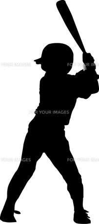 野球少年のシルエットの素材 [FYI00213700]