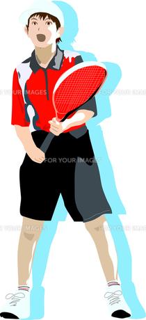 テニス少年の写真素材 [FYI00213724]