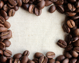 コーヒー豆のフレームの写真素材 [FYI00213740]