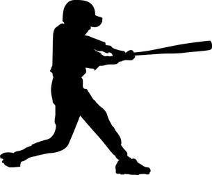 野球少年シルエットの写真素材 [FYI00213741]
