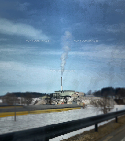 工場の煙の素材 [FYI00214592]