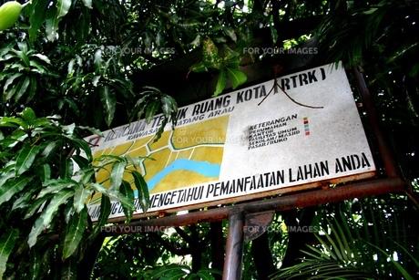 インドネシアの街を彩る小洒落た看板の写真素材 [FYI00214938]