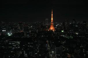 東京タワー周辺の夜景の写真素材 [FYI00215459]