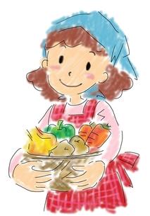 野菜を持つ女性の写真素材 [FYI00215668]